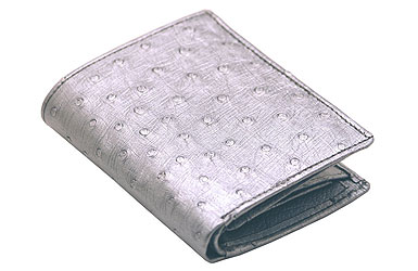 Ostrich Leather Purses and Wallets